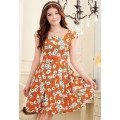 ROSE PRINTED DRESS J9504