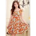 ROSE PRINTED DRESS J9504