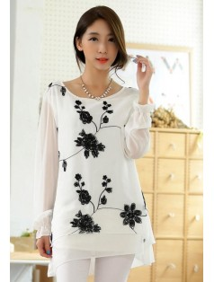 J9743 EMBROIDERY BLOUSE