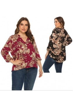 102-10 V NECK PRINTED SHIRT