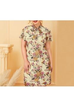 335-11 FLORAL LACE DRESS
