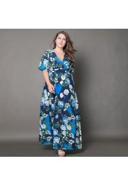 3455-0085 FLORAL PRINTED MAXI DRESS