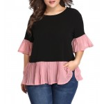 4-2067 PLEATED BLOUSE