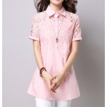 4545-4511 LACE SHORT SLEEVE BLOUSE