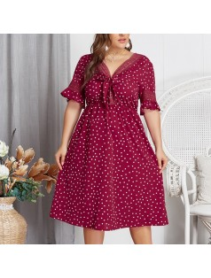 7-5132 DOT PRINTED DRESS