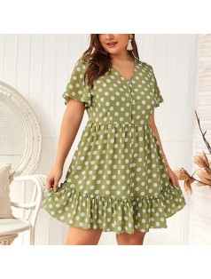 9-4774 POLKA DOT DRESS