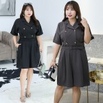 7-7980 DOUBLE BREASTED JUMPSUIT
